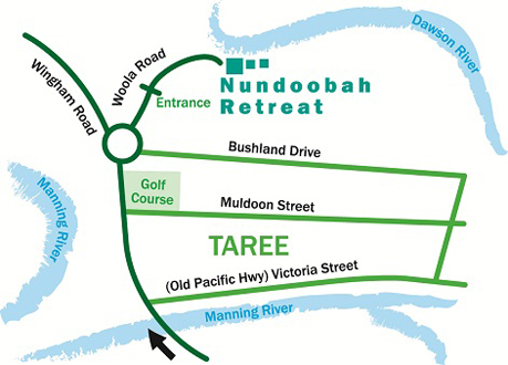 Nundoobah Retreat Map